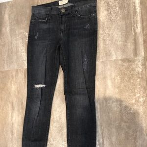 Current Elliott dark grey skinny jeans
